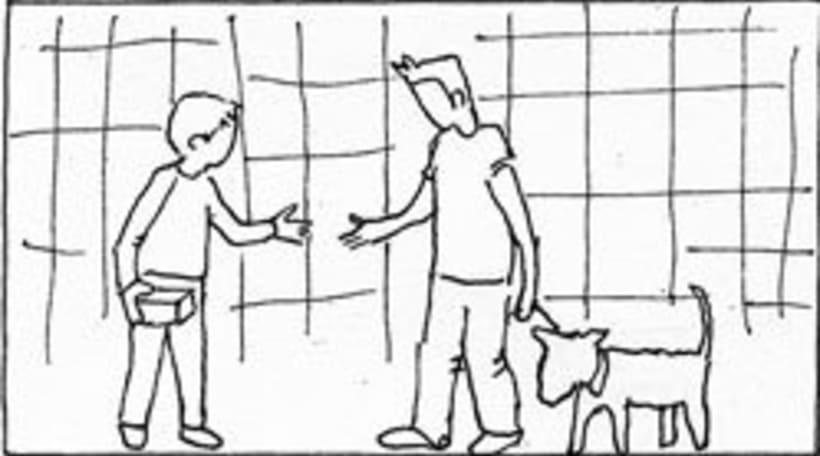 Amateurs, storyboard de la película 63