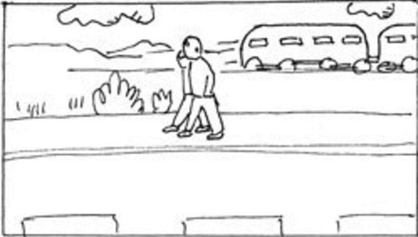 Amateurs, storyboard de la película 60