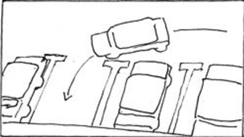 Amateurs, storyboard de la película 59