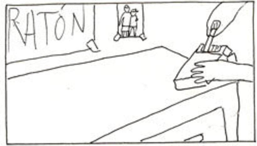 Amateurs, storyboard de la película 57