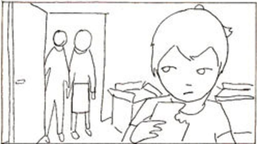 Amateurs, storyboard de la película 50