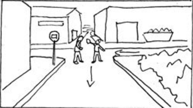 Amateurs, storyboard de la película 47