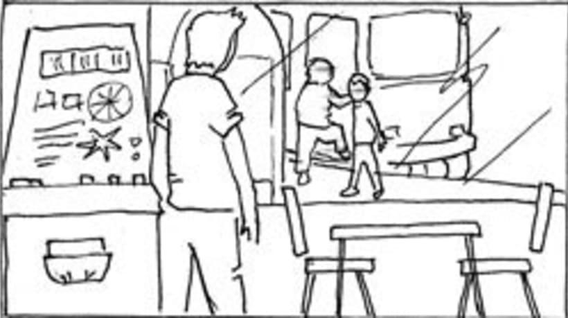 Amateurs, storyboard de la película 42