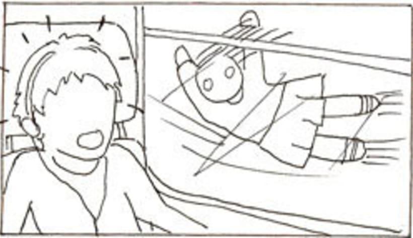 Amateurs, storyboard de la película 38