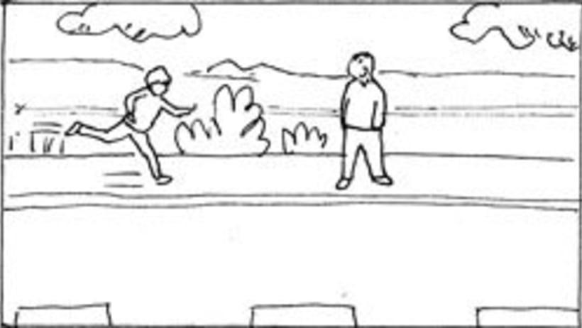 Amateurs, storyboard de la película 37