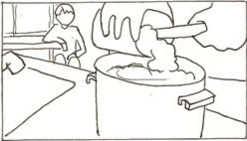 Amateurs, storyboard de la película 26