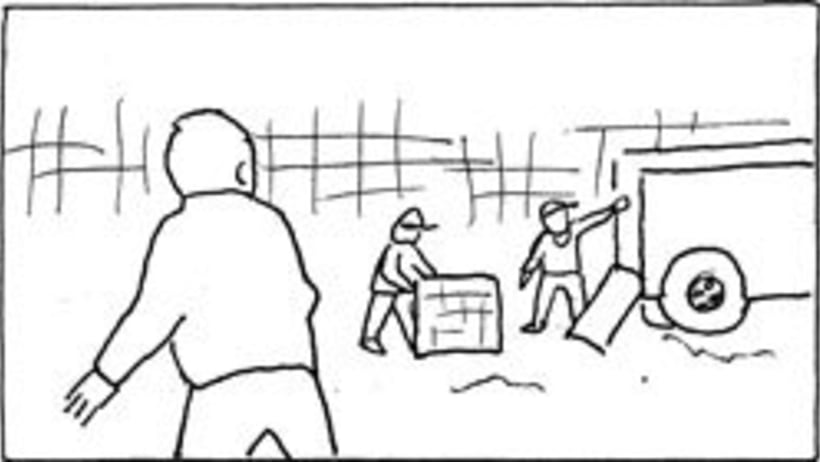 Amateurs, storyboard de la película 13