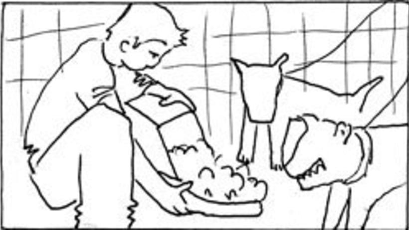 Amateurs, storyboard de la película 11