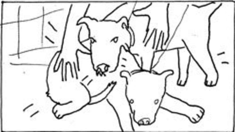 Amateurs, storyboard de la película 8