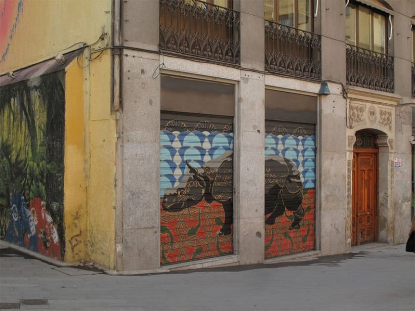 Mural cierre Gloria 2