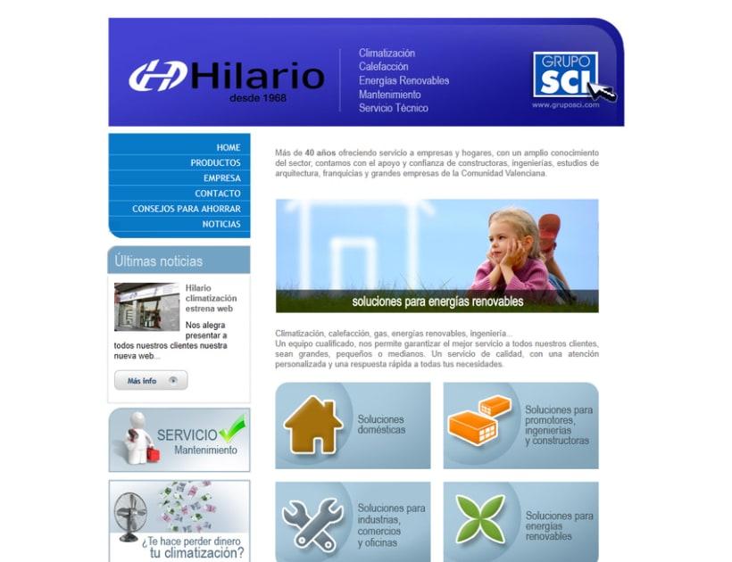 Web corporativa Hilario Climatización 3
