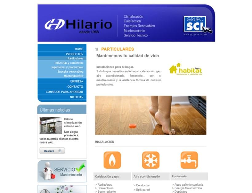 Web corporativa Hilario Climatización 2