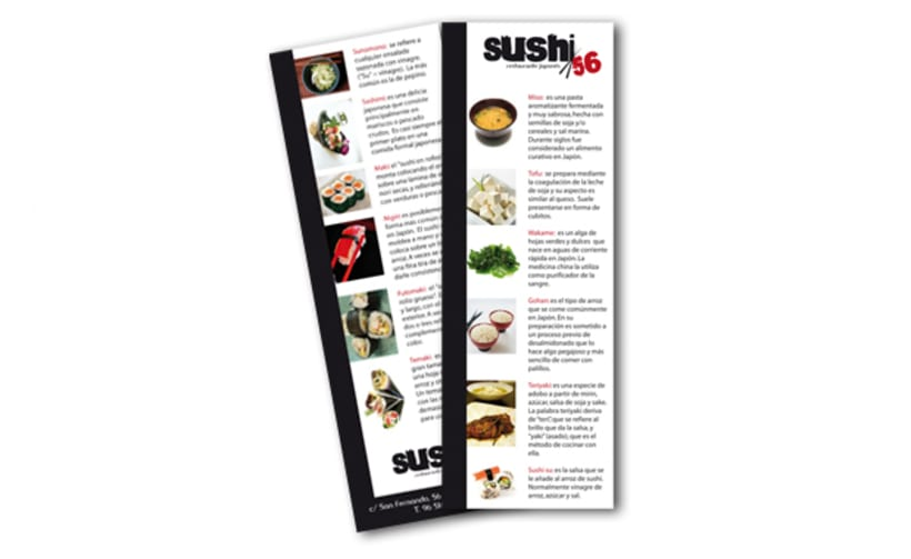 Imagen corporativa. Sushi 56 3