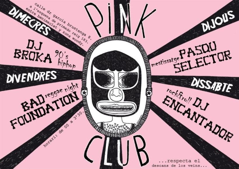 """Carteles Pink Club"" 12"
