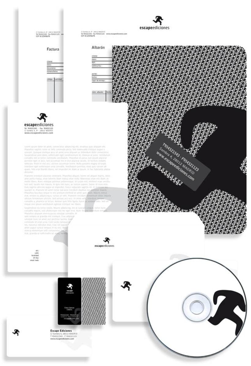 Imagen corporativa Escape Ediciones 2