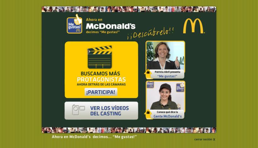 Mcdonald's Me Gustas (maquetación y programación de campaña interna para empleados de Mcdonald's) 2