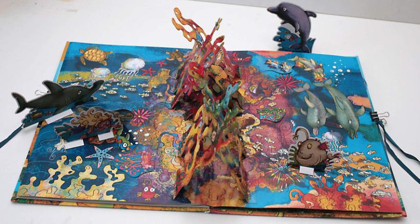 El fondo del Mar/ Colección Libros para jugar/ pop-up 7