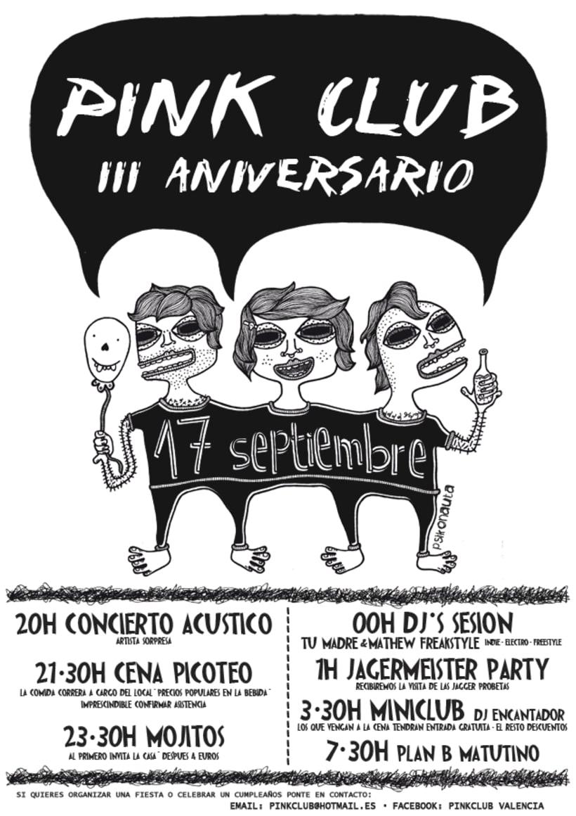Cartel III Aniversario PinkCLub 4
