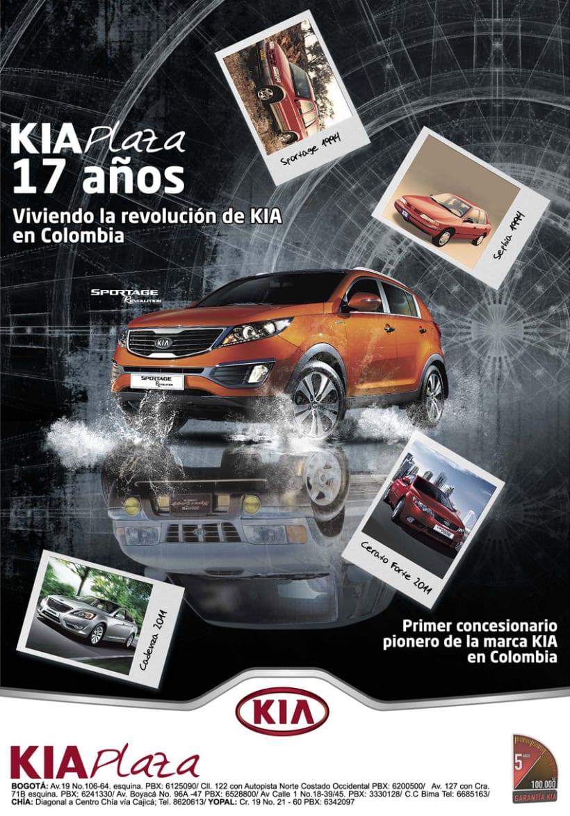 Publicidad AUTOCOM y KIA PLAZA 4