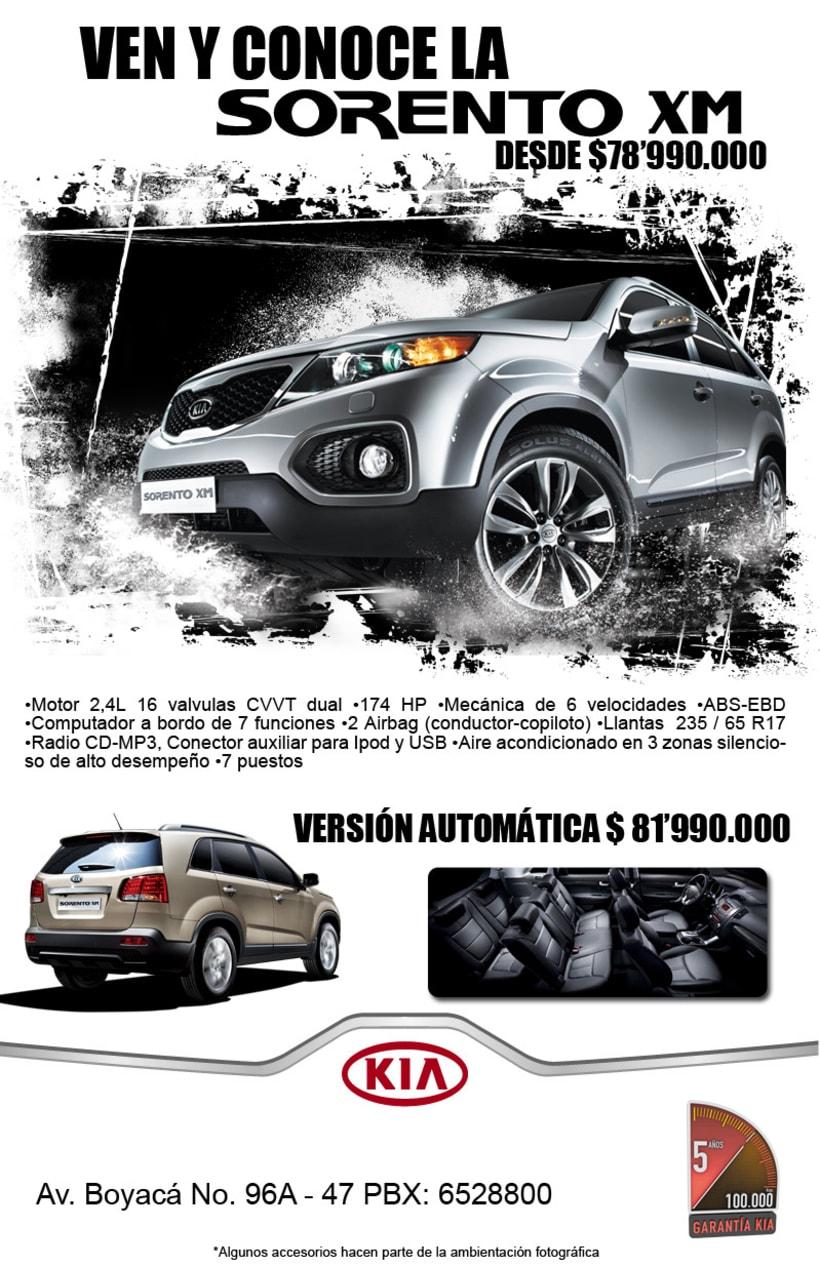 Publicidad AUTOCOM y KIA PLAZA 3