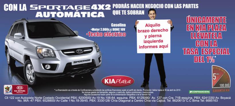 Publicidad AUTOCOM y KIA PLAZA 1