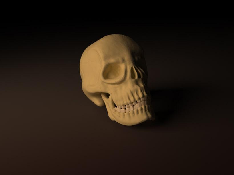 3D Skull 3dsMax&Zbrush&Maya 1