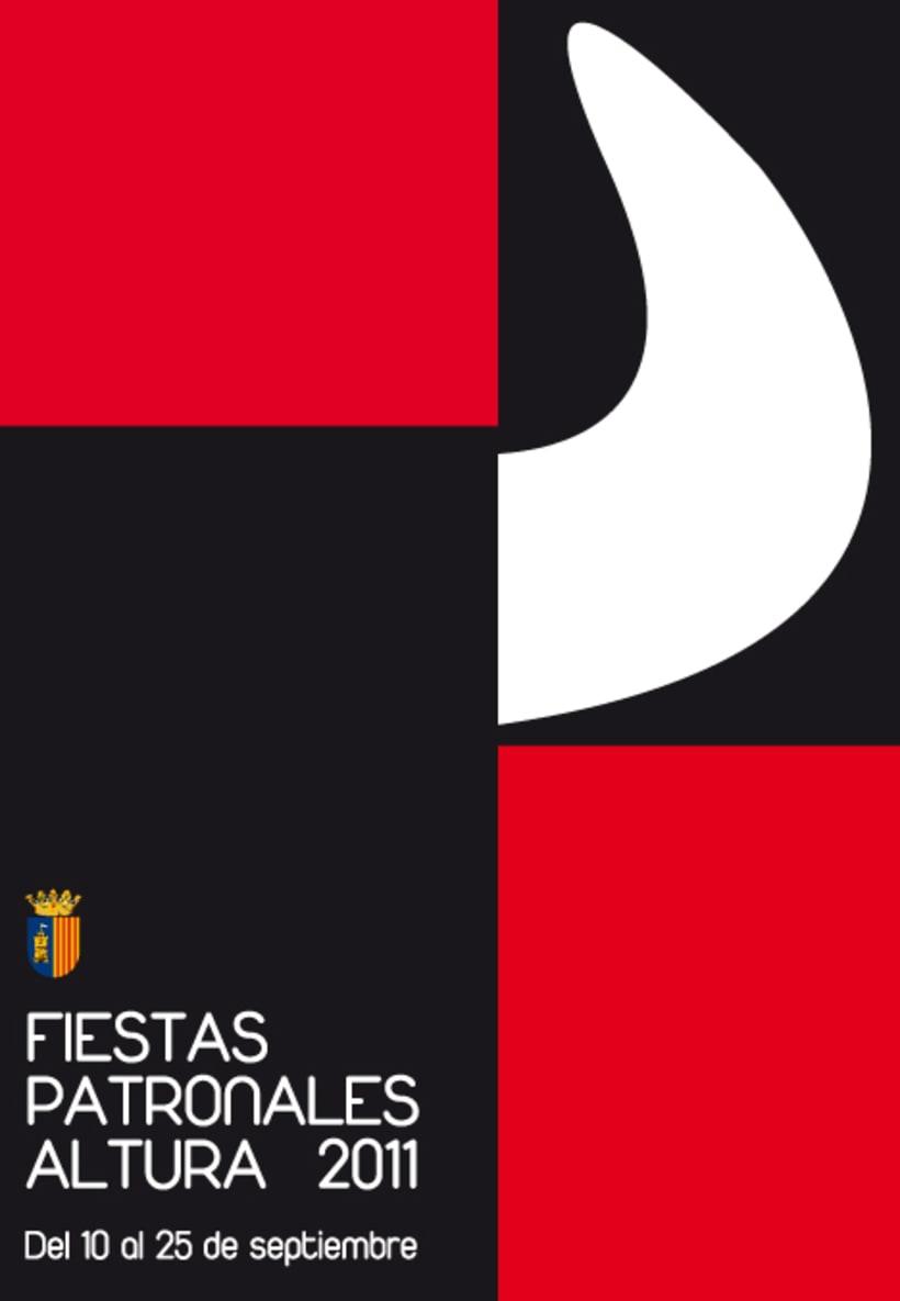 Propuesta cartel anunciador fiestas Altura 2001 1