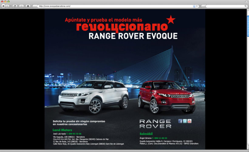 Web - Landing Page Range Rover 1