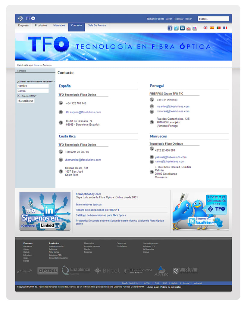TFO (Technology Fiber Optic) 11