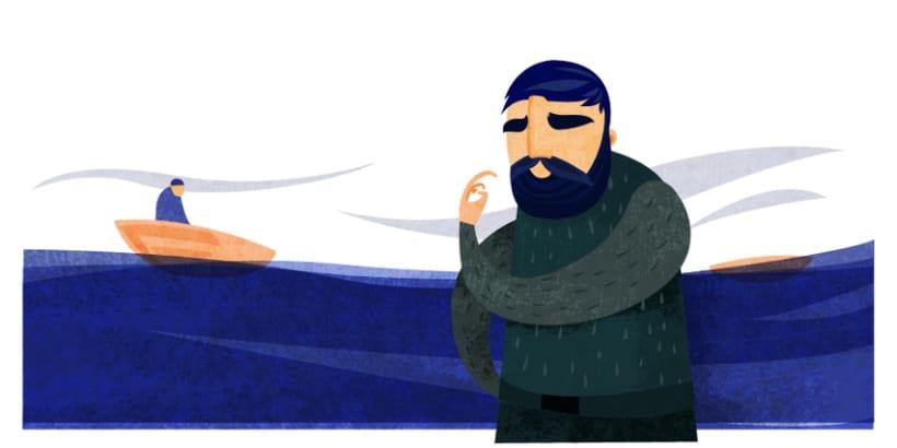 Ilustraciones pensionistas trabajadores del mar 2