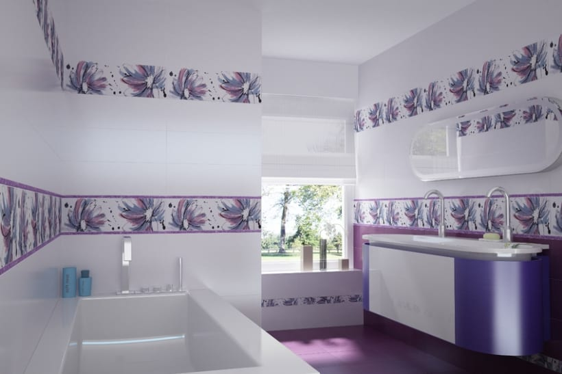 Infografias de ambientes para publicidad de cerámicas 3