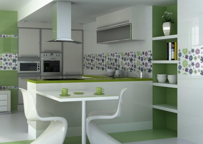 Infografias de ambientes para publicidad de cer micas for Ceramica para cocina