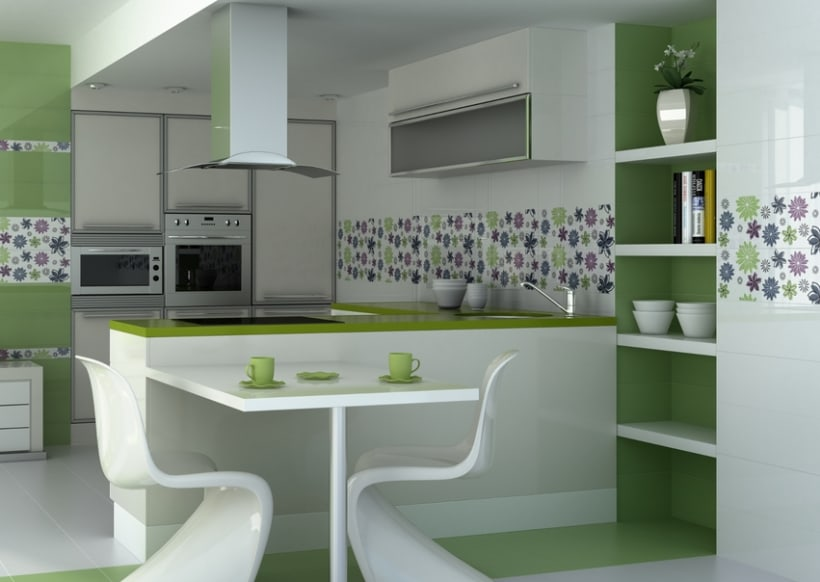 Infografias de ambientes para publicidad de cer micas - Ceramica para cocinas ...