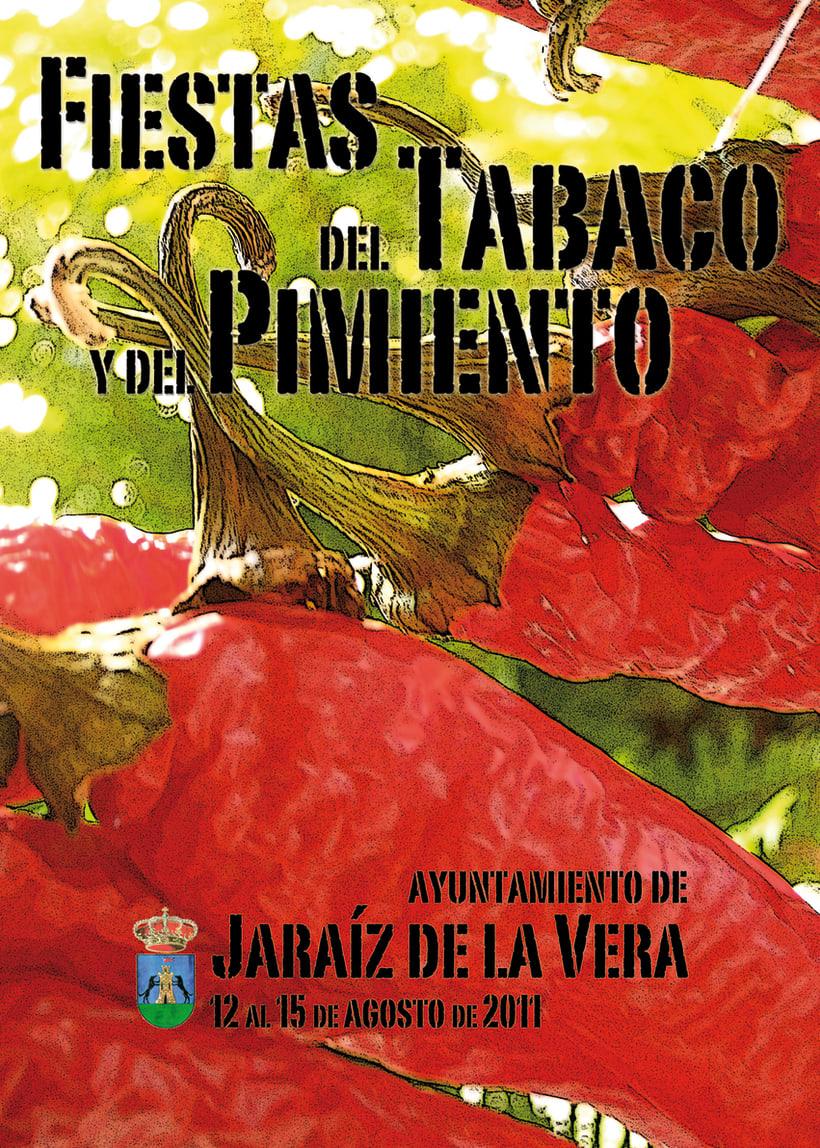 Cartel Fiestas del Tabaco y del Pimiento 2011 1