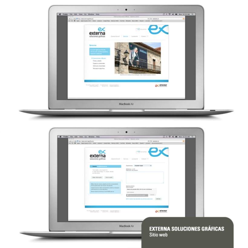 Sitio web de Externa Soluciones Gráficas 1