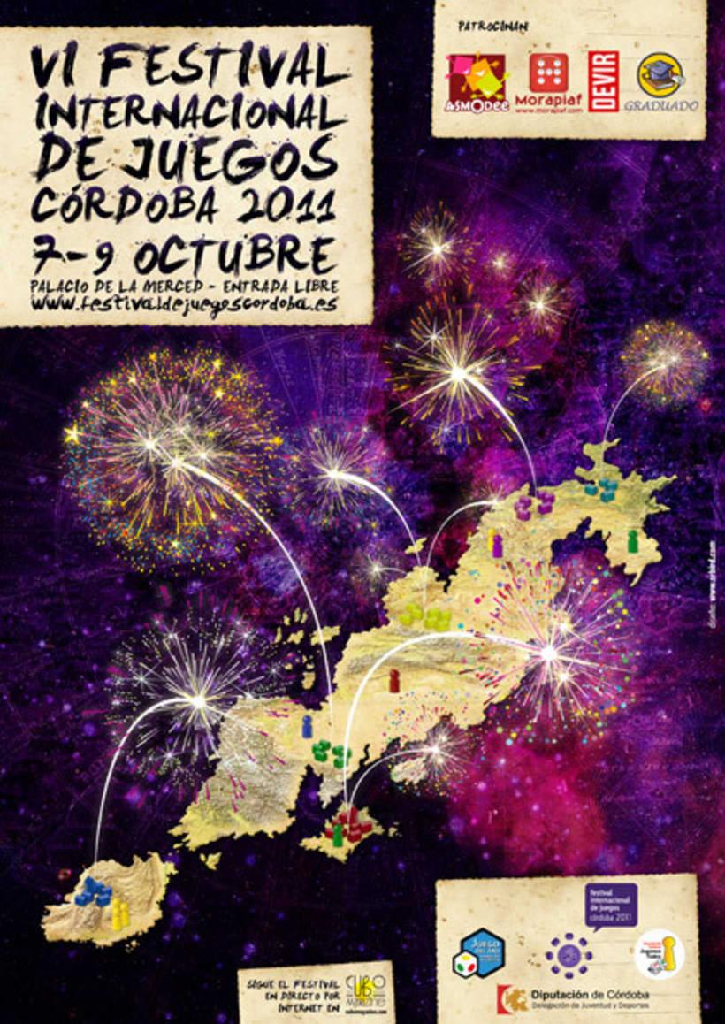 Cartel Festival Internacional de Juegos de Córdoba 2011 1