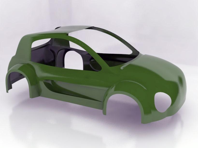 Modelado de carrocería coche 2