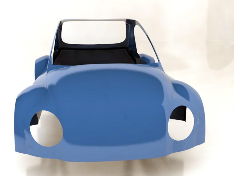 Modelado de carrocería coche 3