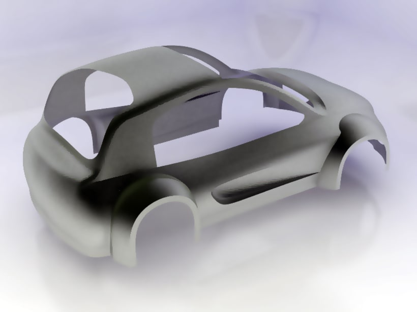 Modelado de carrocería coche 5