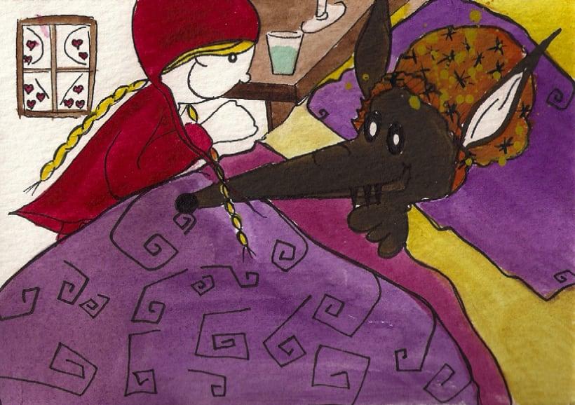 Ilustración   Caperucita Roja 8