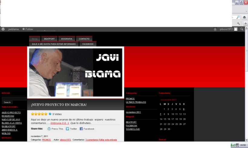 blog en wordpress Javi Blama 1