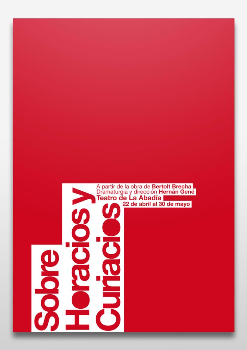 Proyecto de cartel y folleto para Teatro de La Abadía 1