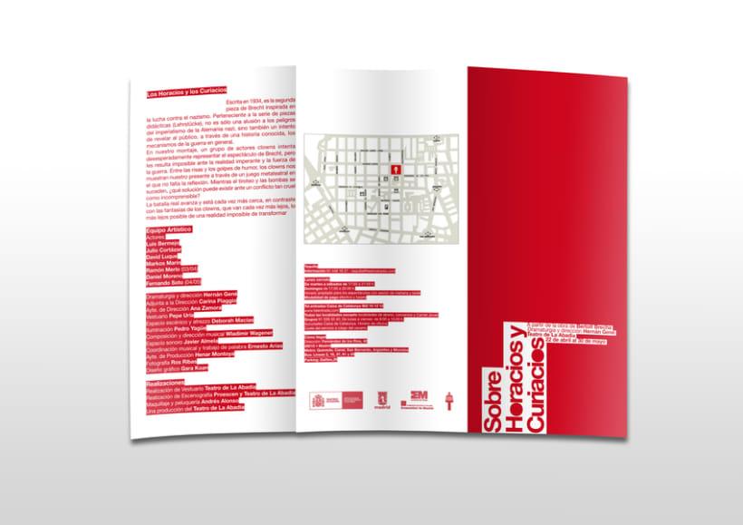 Proyecto de cartel y folleto para Teatro de La Abadía 2