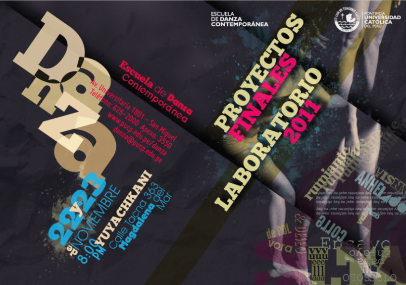 Programa de mano Muestra final Danza Pucp 2011 1