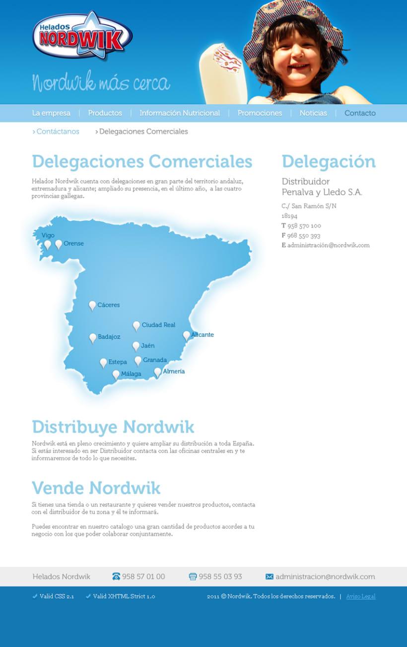Sitio Web Helados Nordwik 4