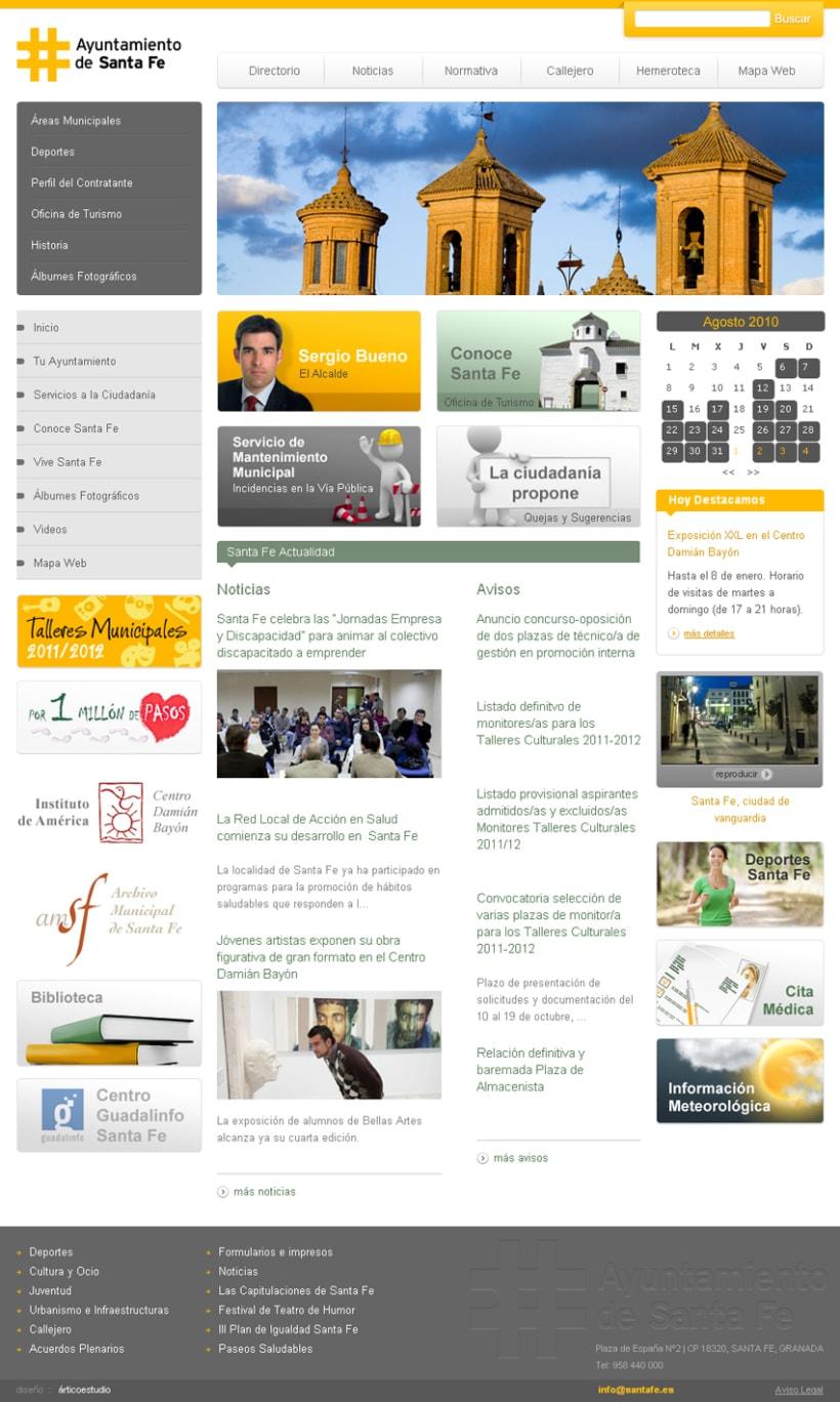 Sitio Web Ayuntamiento Santa Fe 2