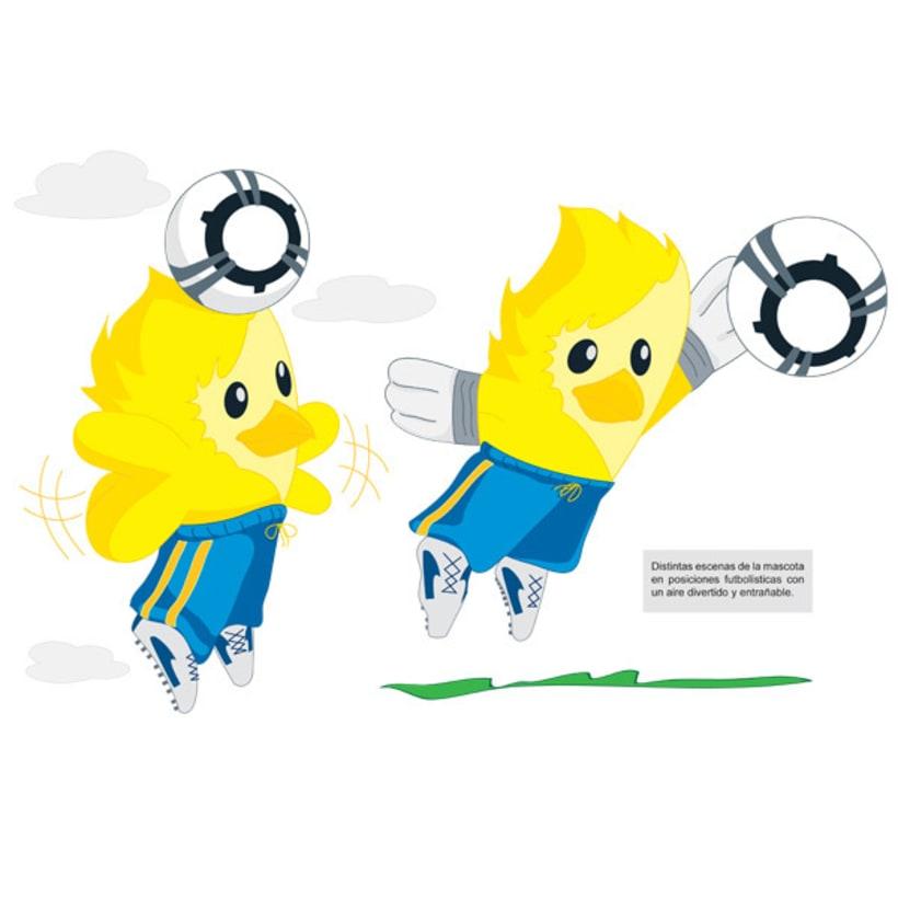 Mascota para equipo de fútbol 2