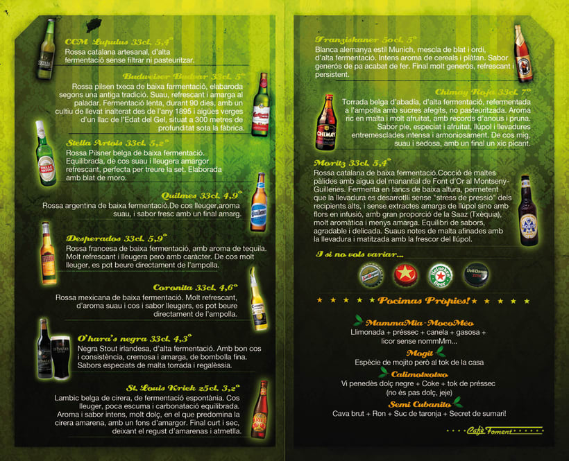 Carta Cervezas 2