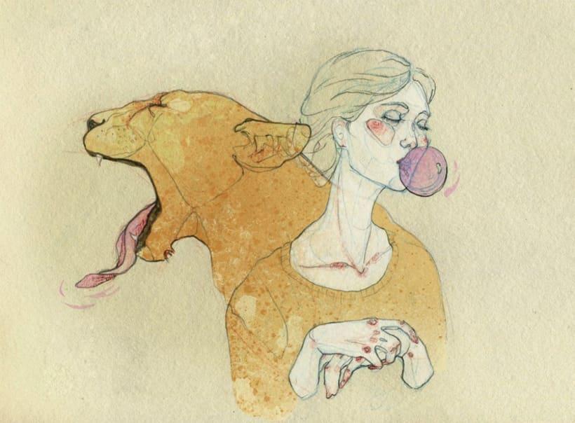 Señoritas y fauna. 1
