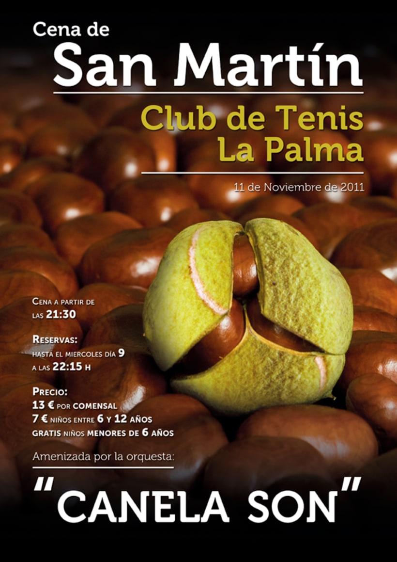 Cartel San Martín Club de Tenis La Palma 2